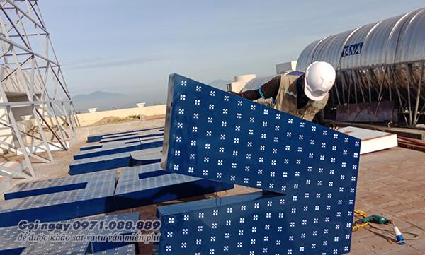 Bộ chữ quảng cáo trên nóc tòa nhà N05 - Hải Phát