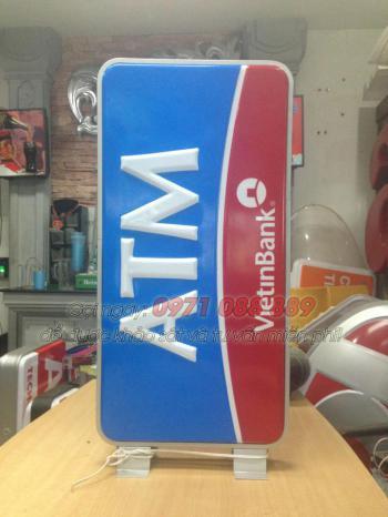 Biển Hộp Đèn Mica Hút Nổi - ATM VietinBank
