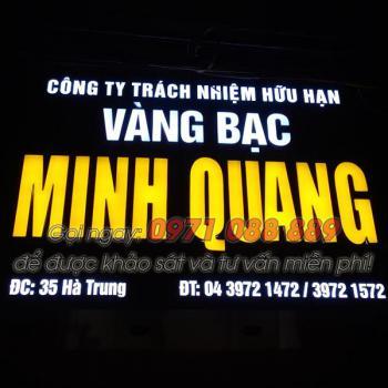 Biển Quảng Cáo Chữ Nổi Alu - Công Ty Vàng Bạc Minh Quang
