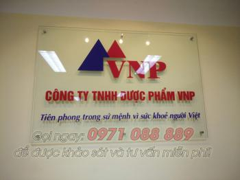 Biển Công Ty Bằng Kính - Công Ty Dược Phẩm VNP