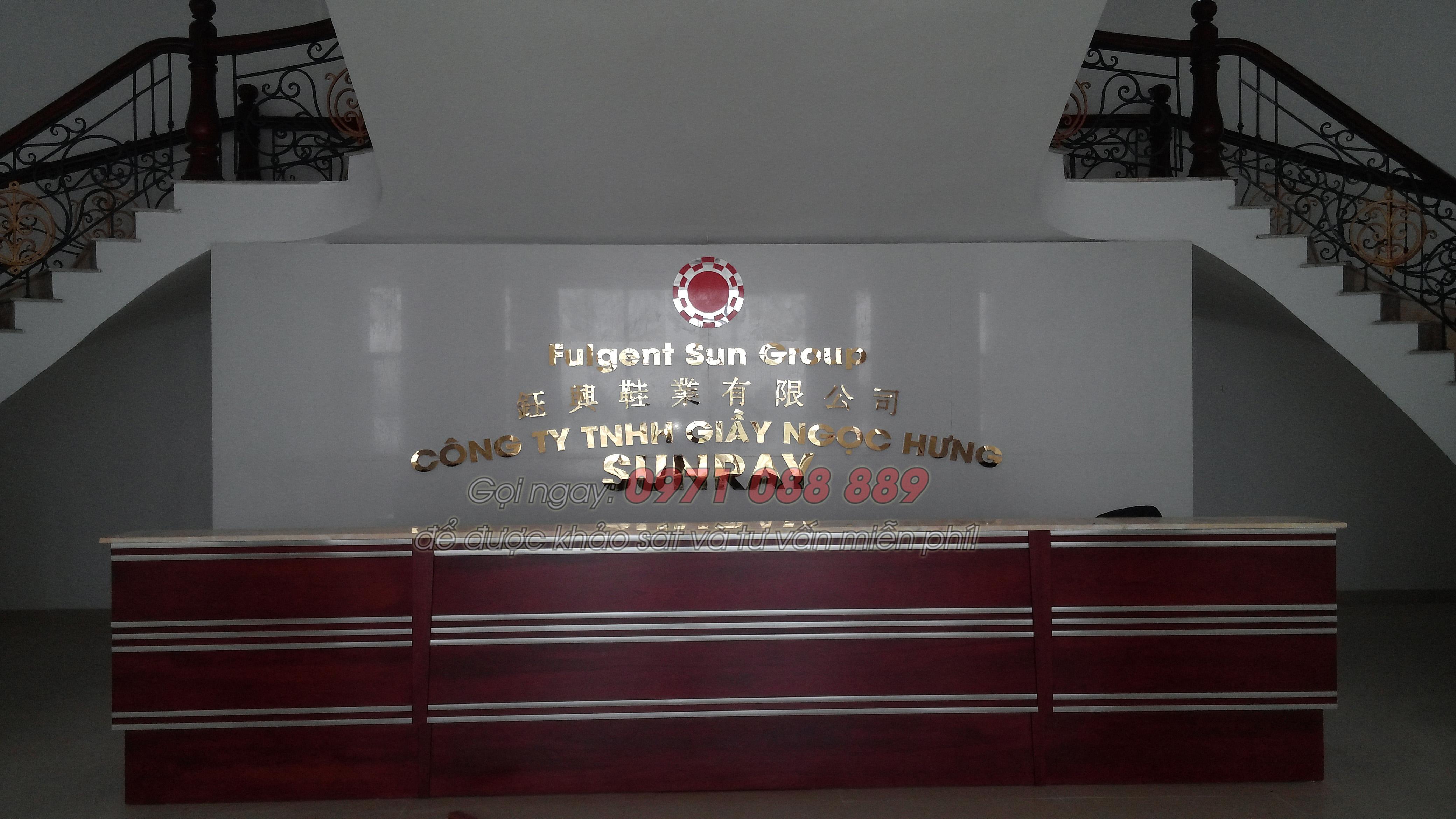 Bộ chữ inox Làm biển công ty bằng chữ inox giá rẻ Hà Nội