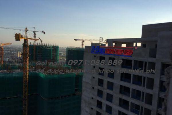 Bộ chữ gắn trên nóc tòa nhà - Biển quảng cáo tòa nhà Hawee Hà Đông