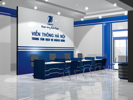 Làm biển backdrop quầy lễ tân, Logo công ty siêu đẹp tại Hà Nội